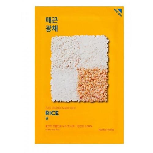 Holika Holika Plátýnková maska s rýží pro rozjasnění a vitalitu pleti Rice (Pure Essence Mask Sheet) 20 ml
