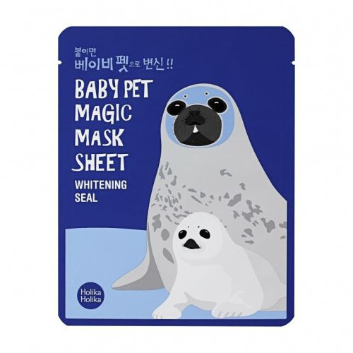 Holika Holika Rozjasňujúci plátýnková maska Baby Pet Magic Whitening Seal (Mask Sheet) 22 ml
