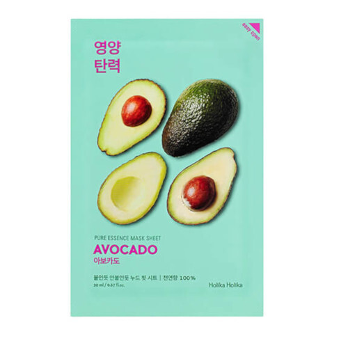 Holika Holika Zjemňujúca plátenná maska Avocado (Pure Essence Mask Sheet) 20 ml
