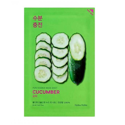 Holika Holika Upokojujúci plátýnková maska Cucumber ( Pure Essence Mask Sheet) 23 ml