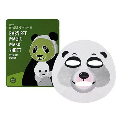 Holika Holika Zpevňující plátýnková maska Baby Pet Magic Vitality Panda (Mask Sheet) 22 ml