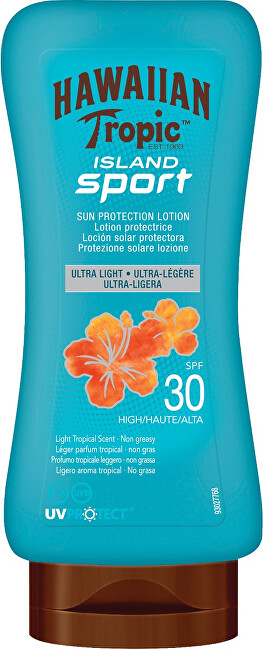 Hawaiian Tropic Opaľovacie mlieko SPF 30 Island Sport (Sun Protective Lotion Ultra Light ) 180 ml
