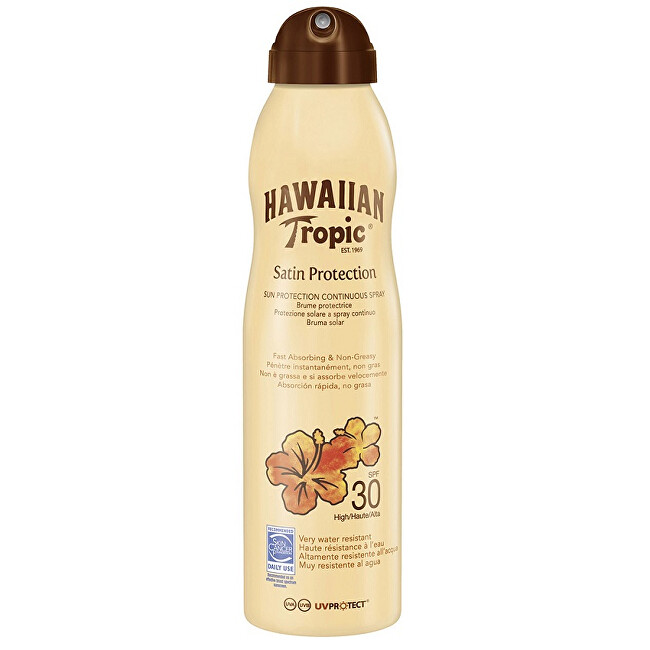 Hawaiian Tropic Opaľovací sprej SPF 30 Satin Protection (Spray) 220 ml
