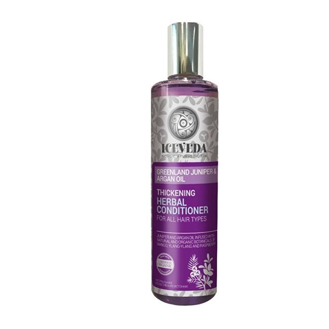 Iceveda Zhušťující bylinný kondicionér na vlasy Grónský jalovec a arganový olej 280 ml