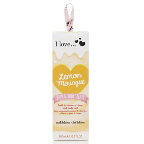 I Love Dárková sada s vůní citronové sněhové pusinky Lemon Meringue (Bath & Body Treats)