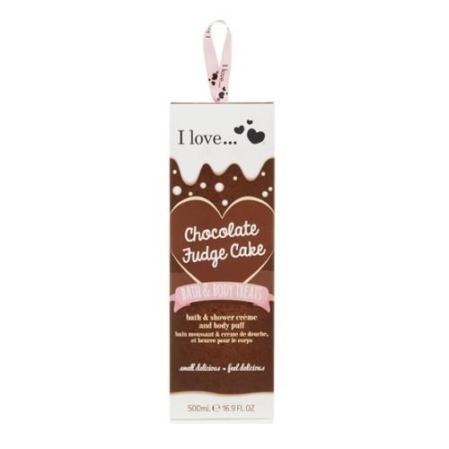 I Love Dárková sada s vůní čokoládového dortu Bath & Body Treats Chocolate Fudge Cake