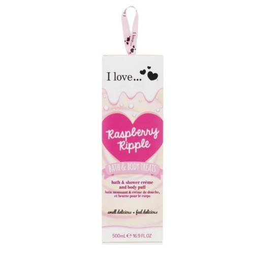 I Love Dárková sada s vůní malin Bath & Body Treats Raspberry Ripple Cream