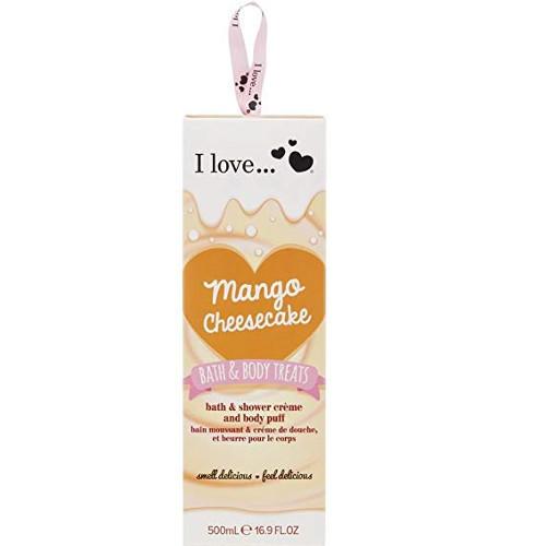I Love Dárková sada s vůní mangového koláče Mango Cheesecake (Bath & Body Treats)