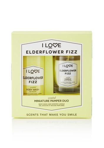 I Love Dárková sada se svíčkou Elderflower Fizz (Body Wash & Candle)