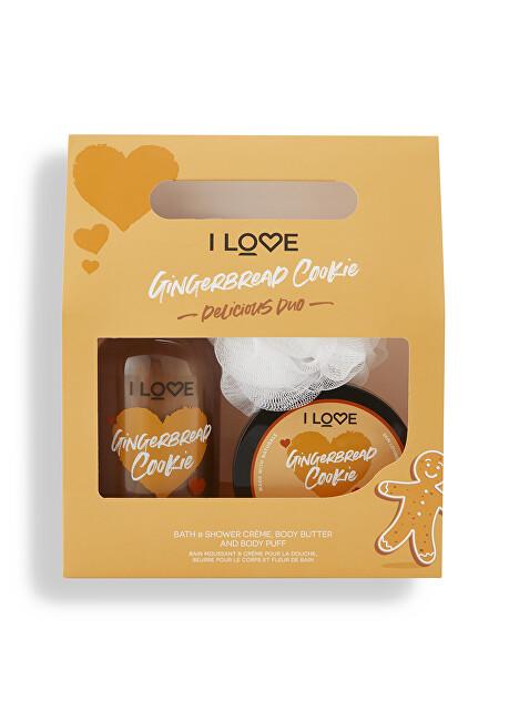 I Love Kosmetická sada s vůní perníčků Gingerbread Cookie Delicious Duo - SLEVA - poškozená krabička