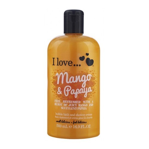 I Love Kúpeľový a sprchovací krém s vôňou manga a papáje (Mango   Papaya Bubble Bath And Shower Creme) 500 ml