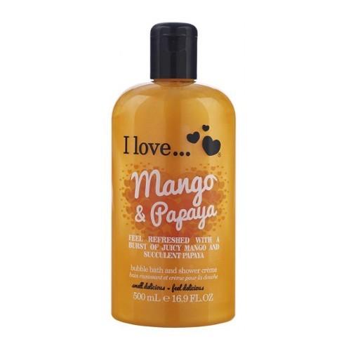 I Love Koupelový a sprchový krém s vůní manga a papáji (Mango & Papaya Bubble Bath And Shower Creme) 500 ml
