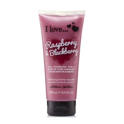 I Love Přírodní sprchový peeling s vůní malin a ostružin (Raspberry & Blackberry Exfoliating Shower Smoothie) 200 ml