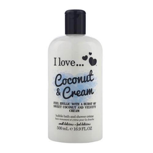 I Love Koupelový a sprchový krém s vůní kokosu a sladkého krému (Coconut & Cream Bubble Bath And Shower Creme) 500 ml