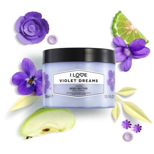 I Love Tělové máslo Violet Dreams (Body Butter) 300 ml