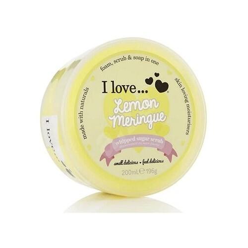 I Love Tělový peeling z našlehaného cukru s vůní citronových sněhových pusinek (Lemon Meringue Whipped Sugar Scrub) 200 ml