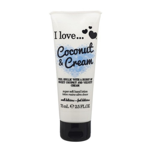 I Love Vyživující krém na ruce s vůní kokosu a sametového krému (Coconut & Cream Super Soft Hand Lotion) 75 ml