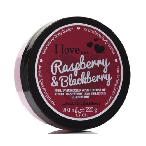 I Love Vyživující tělové máslo s vůní malin a ostružin (Raspberry & Blackberry Nourishing Body Butter) 200 ml