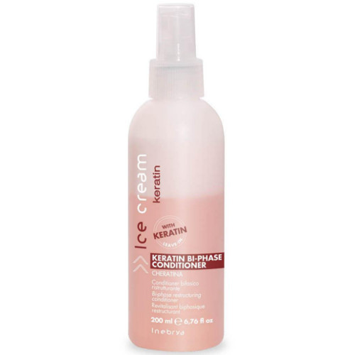 Inebrya Dvojfázový bezoplachový kondicionér Ice Cream Keratin (Keratin Bi- Phase Conditioner) 200 ml