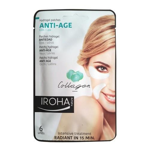 Iroha Hydrogelové polštářky pod oči či k ústům proti stárnutí skolagenem (Anti-Age Hydrogel Patches Collagen) 6 ks