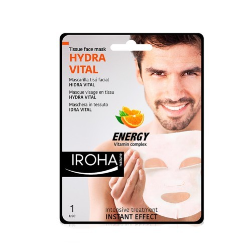 Iroha Intenzivní látková maska pro muže svitamínovým komplexem (Hydra Vital Tissue Face Mask Energy Vitamin Complex) 23 ml