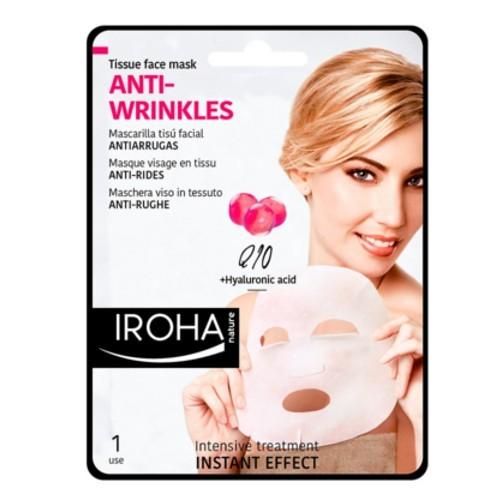 Iroha Látková maska proti vráskám s koenzymem Q10 a kyselinou hyaluronovou (Anti-Wrinkles Tissue Face Mask) 23 ml