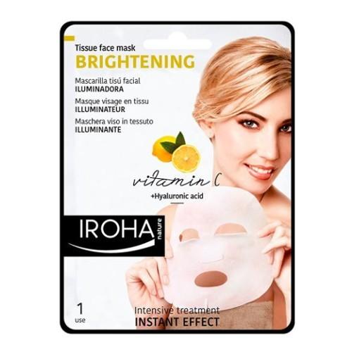 Iroha Rozjasňující látková maska s vitamínem C a kyselinou hyaluronovou (Brightening Tissue Face Mask) 23 ml