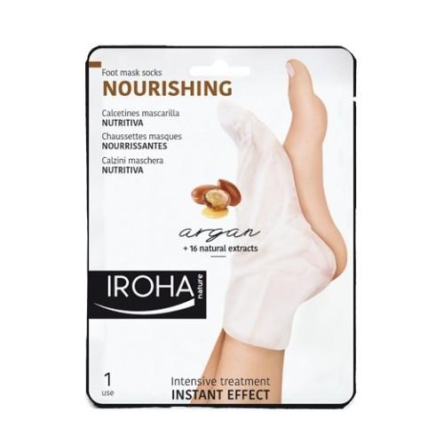 Iroha Vyživující maska na nohy a nehty s arganovým olejem (Nourishing Foot Mask Socks Argan) 2 x 9 ml