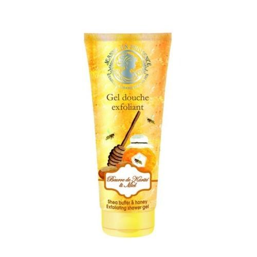 Jeanne En Provence Peelingový sprchový gel Bambucké máslo a med (Exfoliating Shower Gel) 200 ml