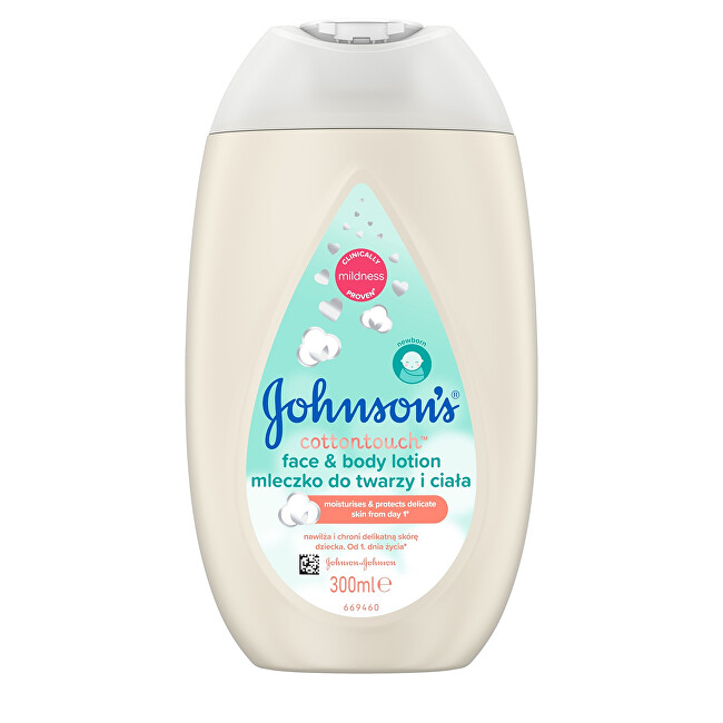 JOHNSON`S Baby Mléko na tělo a tvář Cottontouch (Face & Body Lotion) 300 ml