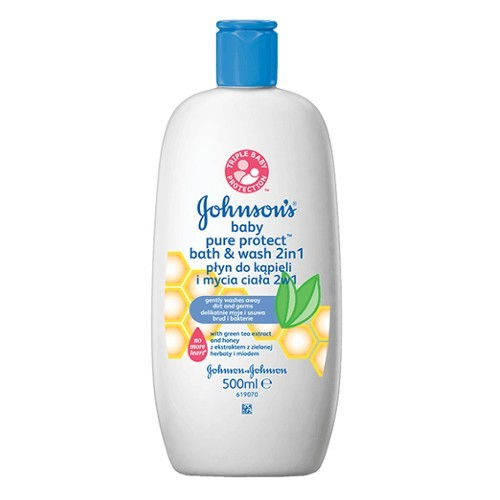 JOHNSON`S Baby Koupel a mycí gel Baby Pure Protect 500 ml