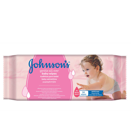 JOHNSON`S Baby Vlhčené ubrousky Baby (Gentle all over baby wipes) 56 ks
