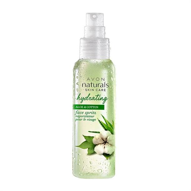 Avon Hydratační pleťový sprej s aloe a bavlnou Naturals Skin care (Face Spritz) 100 ml
