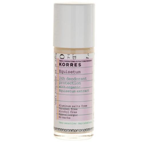 Korres 24hodinový roll-on deodorant s přesličkou pro citlivou pokožku 30 ml