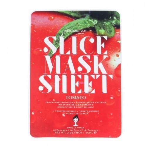 Kocostar Hydratační a rozjasňující plátková maska Rajče (Slice Sheet Mask) 20 ml