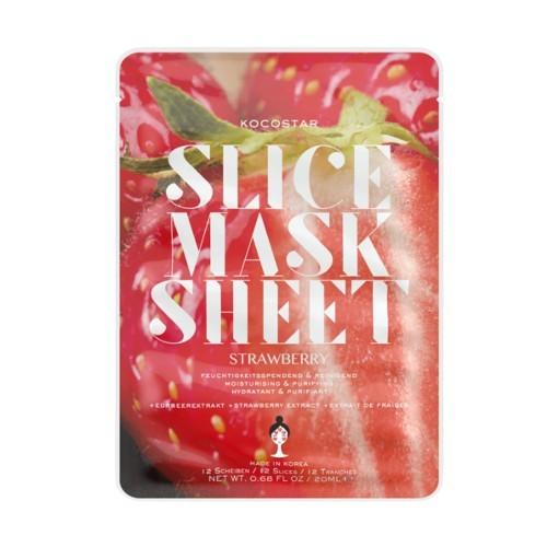 Kocostar Rozjasňující plátková maska Jahoda (Slice Sheet Mask) 20 ml