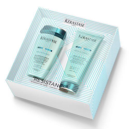 Kérastase Resistance Šampon pro velmi křehké a poškozené vlasy 250 ml + Obnovující krém pro poškozené vlasy 200 ml dárková sada