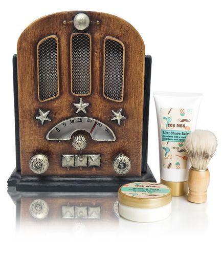 Lady Cotton Kozmetická sada na holenie pre mužov retro rádio (Radio Retro Shaving Set)
