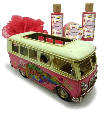 Lady Cotton Sada kosmetiky do koupele Rose Van Flower Power (Bath Set in Metal Van)