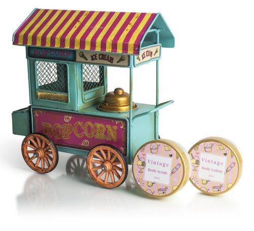 Lady Cotton Sada kosmetiky do koupele Vanila Ice Cream and Popcorn Truck (Bath Set)