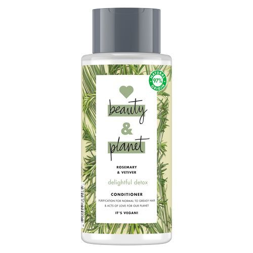 Love Beauty and Planet Čisticí kondicionér s rozmarýnem a vetiverem pro vlasy s tendencí se mastit Delightful Detox Conditioner 400 ml