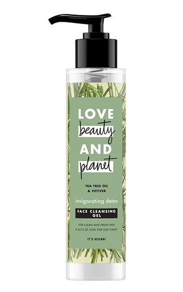 Love Beauty and Planet Čisticí gel na obličej Tea Tree  Vetiver Face Cleansing Gel 125 ml