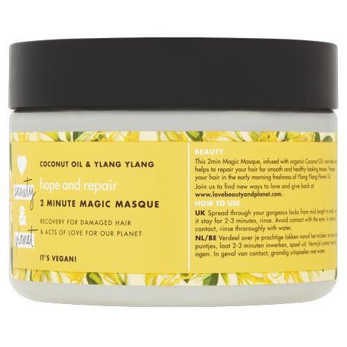 Love Beauty and Planet Maska na suché a poškozené vlasy s ylang-ylang a kokosovým olejem (Hope and Repair 2 Minute Magic Masque) 300 ml