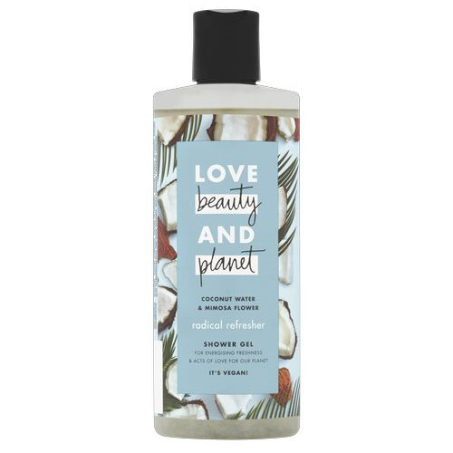 Love Beauty and Planet Osviežujúci sprchový gél s kokosovou vodou a kvety mimózy (Radical Refresher Shower Gel) 500 ml