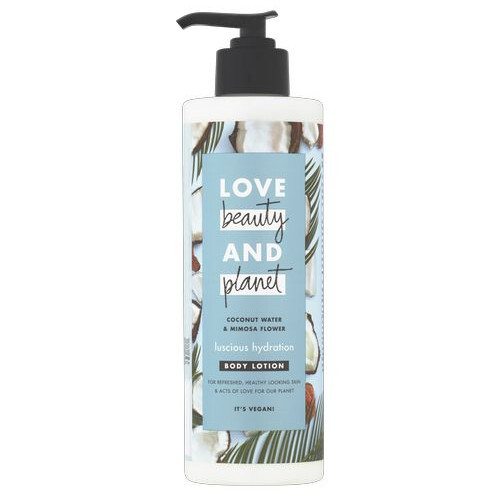 Love Beauty and Planet Tělo vé mlieko s kokosovou vodou a kvety mimózy (Luscious Hydration Body Lotion) 400 ml