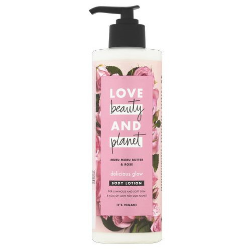 Love Beauty and Planet Tělo vé mlieko s ružovým olejom a maslom muru muru (Delicious Glow Body Lotion) 400 ml