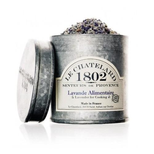 Le Chatelard Sušené květy levandule v zinkové krabičce 300 ml