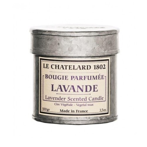 Le Chatelard Vonná svíčka v plechu Levandule 100 g