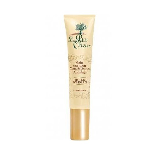 Le Petit Olivier Anti-Age intenzivní péče o oční okolí a rty s arganovým olejem (Anti-Aging Eye & Lip Contour With Organic Argan Oil) 15 ml