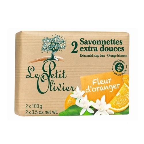 Le Petit Olivier Extra jemné mýdlo Pomerančový květ (Extra Mild Soap Bars) 2 x 100 g